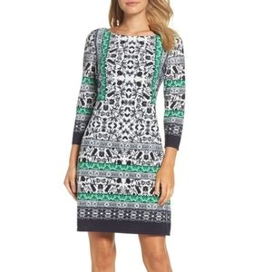 NWT Vince Camuto Print Sheath Dress Sz 4